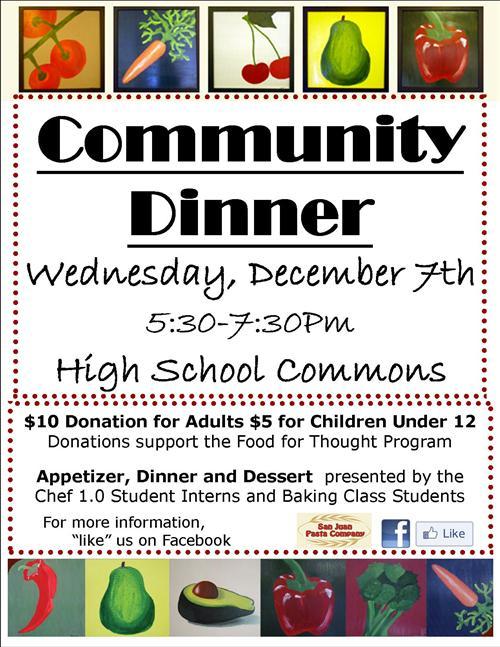 food service community dinner