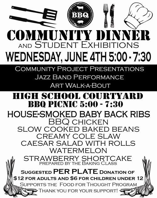 food service community dinner 6 5 13