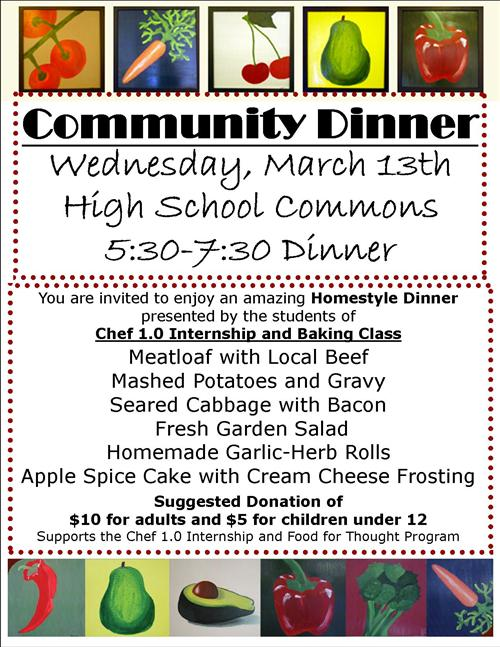 Community Dinner March 13th, 2013