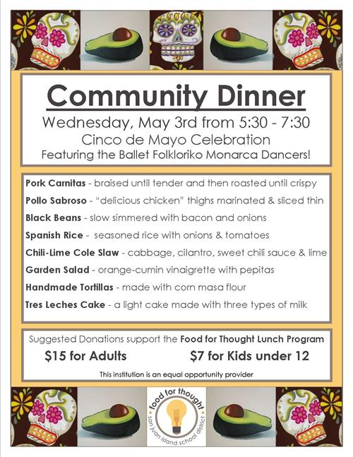 Beautiful Community Dinner Flyer