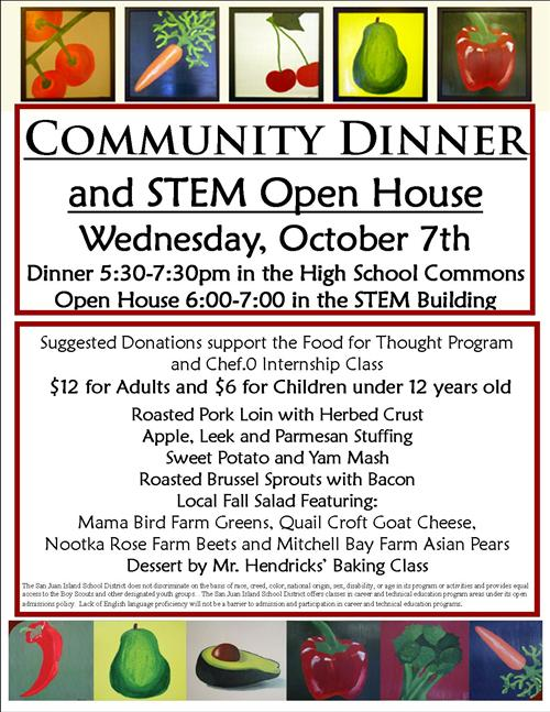 food service community dinner and stem open house 10 7 2015