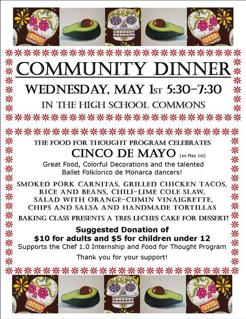 Community Dinner May 1st